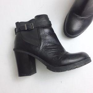 3a5d6788476bb Circus by Sam Edelman Shoes - Circus Sam Edelman Black Deacon Stacked Heel  Boots